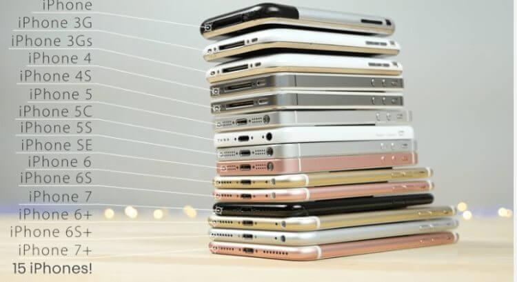 A evolução em design do iPhone