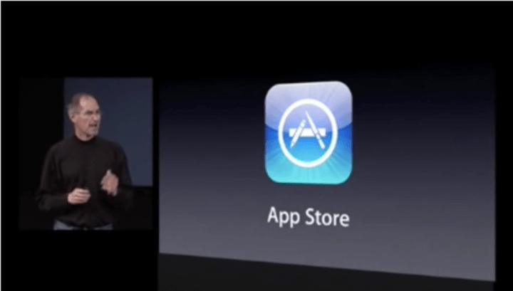 Steve jobs apresenta a app store
