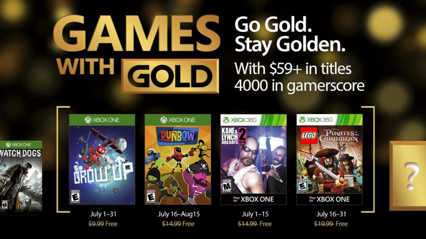 Games with Gold: jogos grátis na Live para julho de 2017