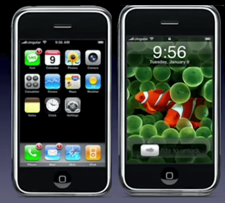 Apple os 1 no primeiro iphone