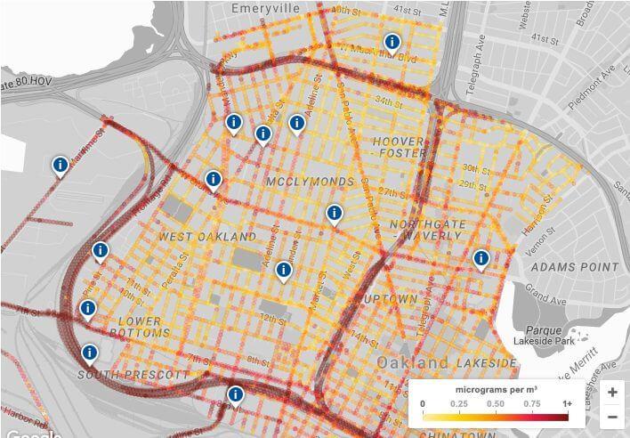Mapa de poluição interativo