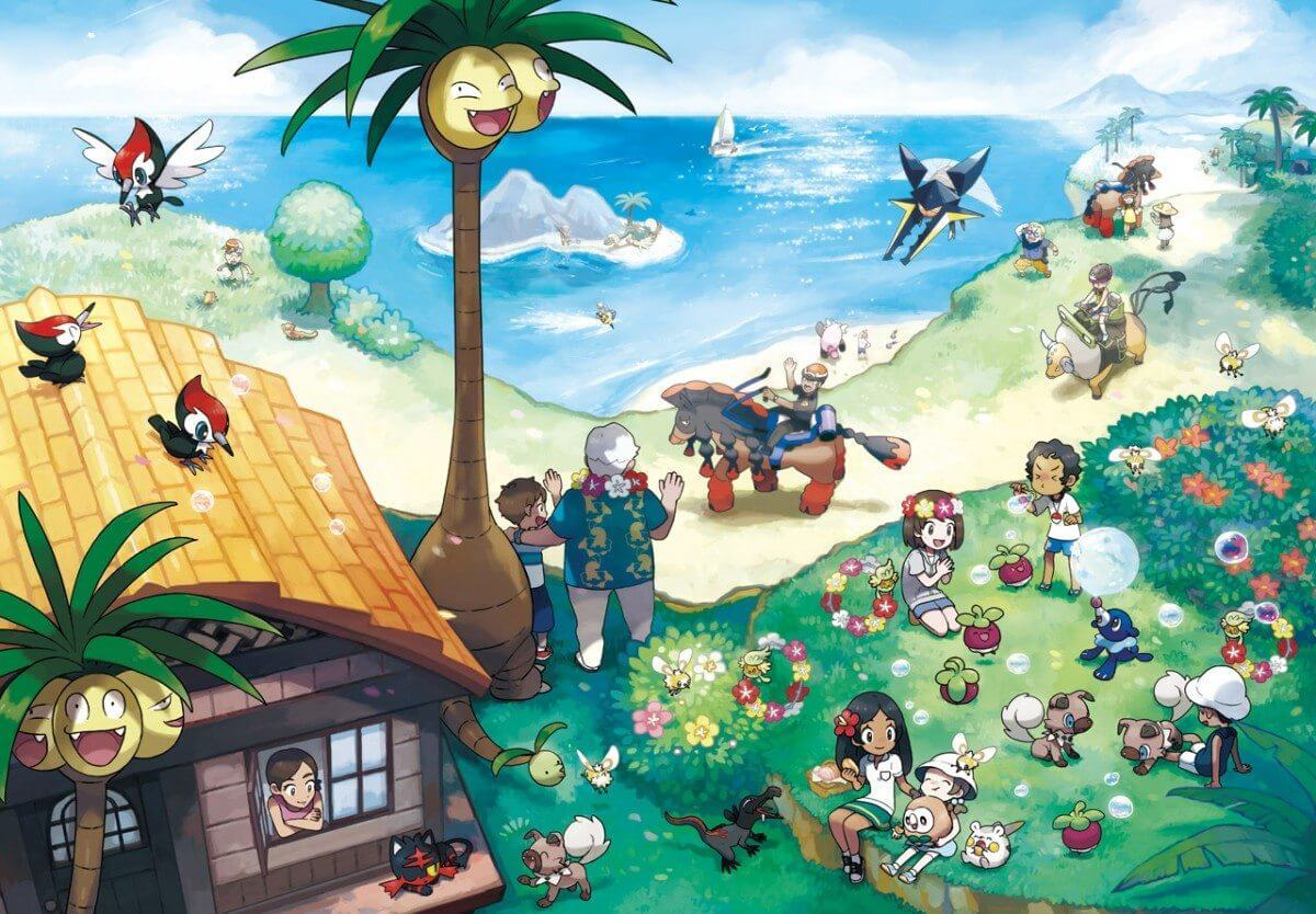 alola artwork pokemon sun and moon