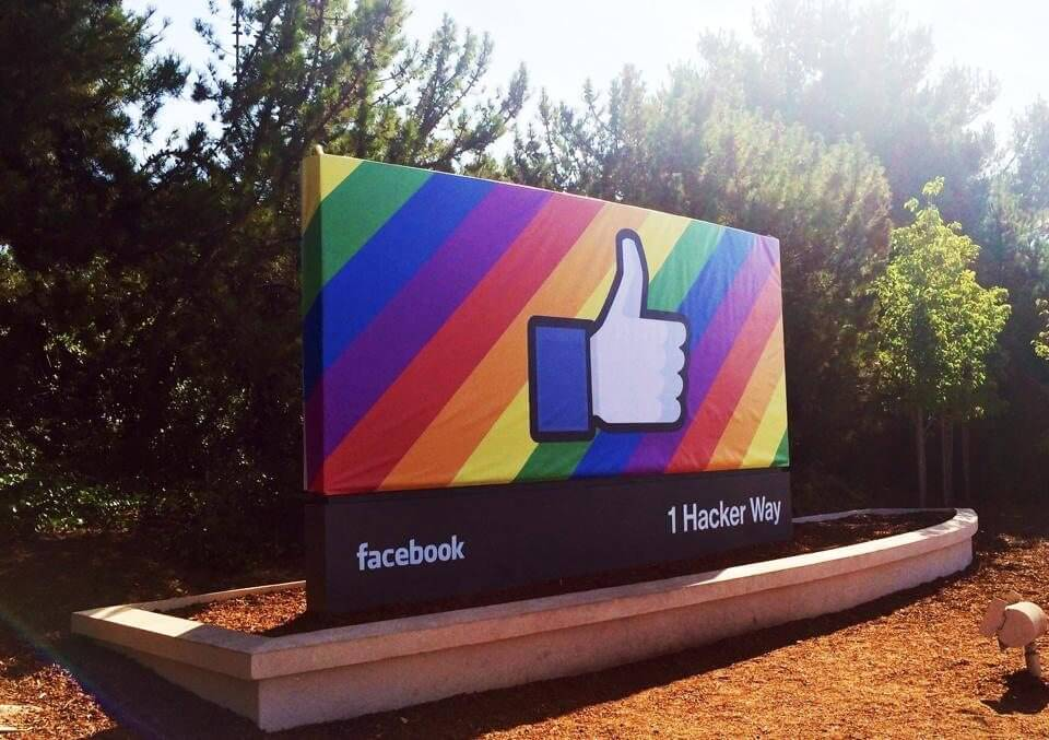 facebook welcome sign