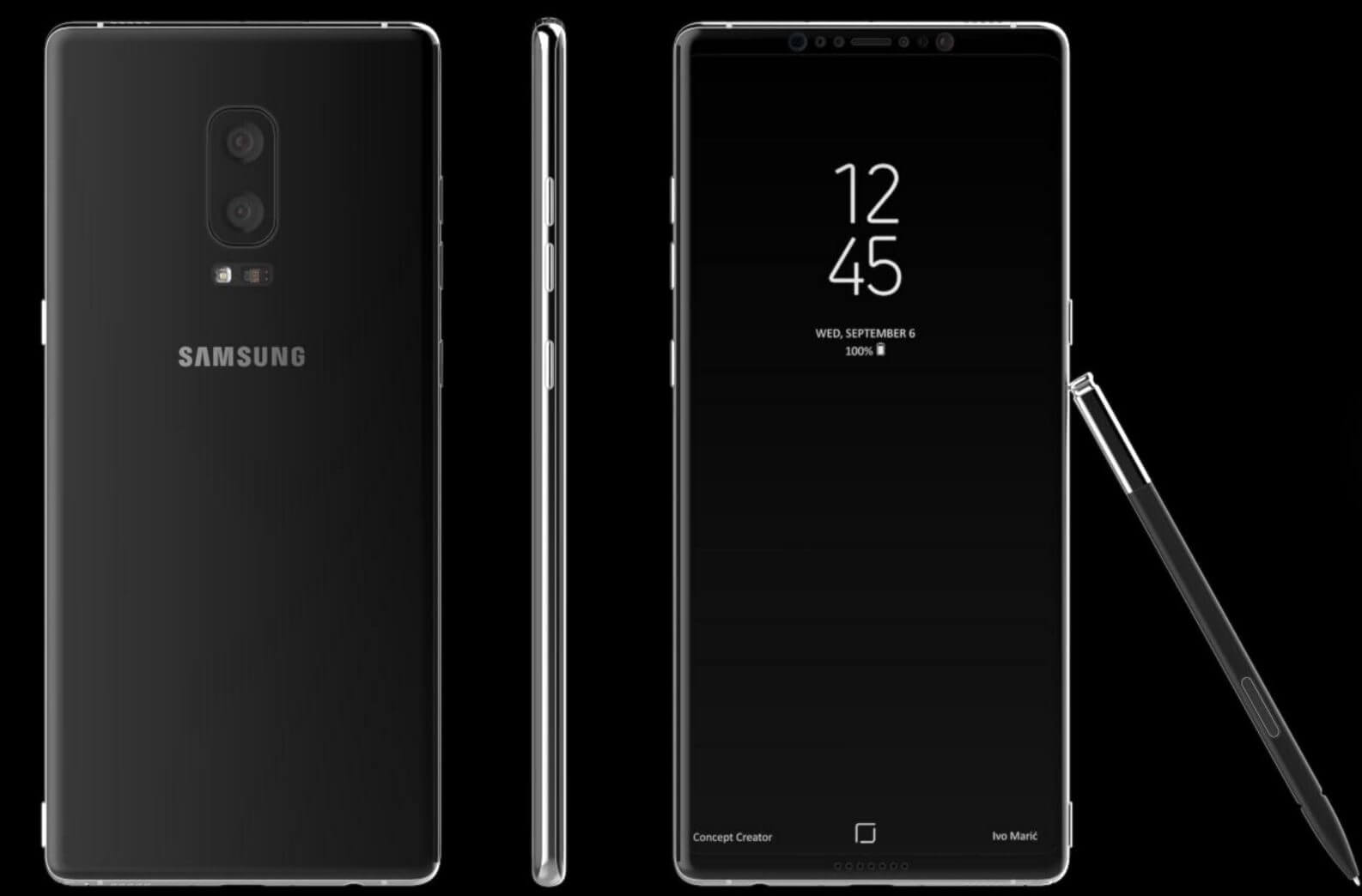 Vazamento mostra possível design final do samsung galaxy note 8 com s-pen
