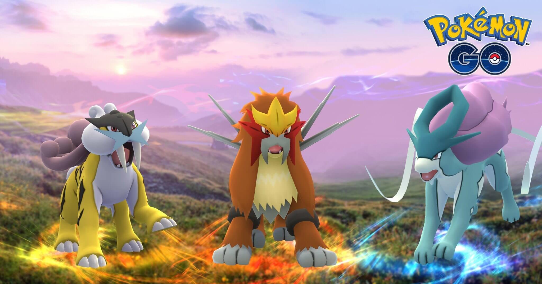 Raikou, Entei e Suicune chegam a Pokémon GO