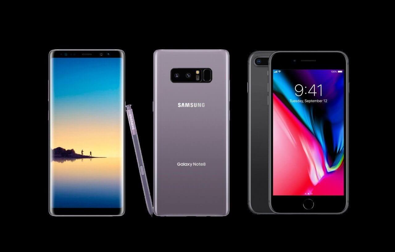Comparativo: Galaxy Note 8 x iPhone 8 Plus