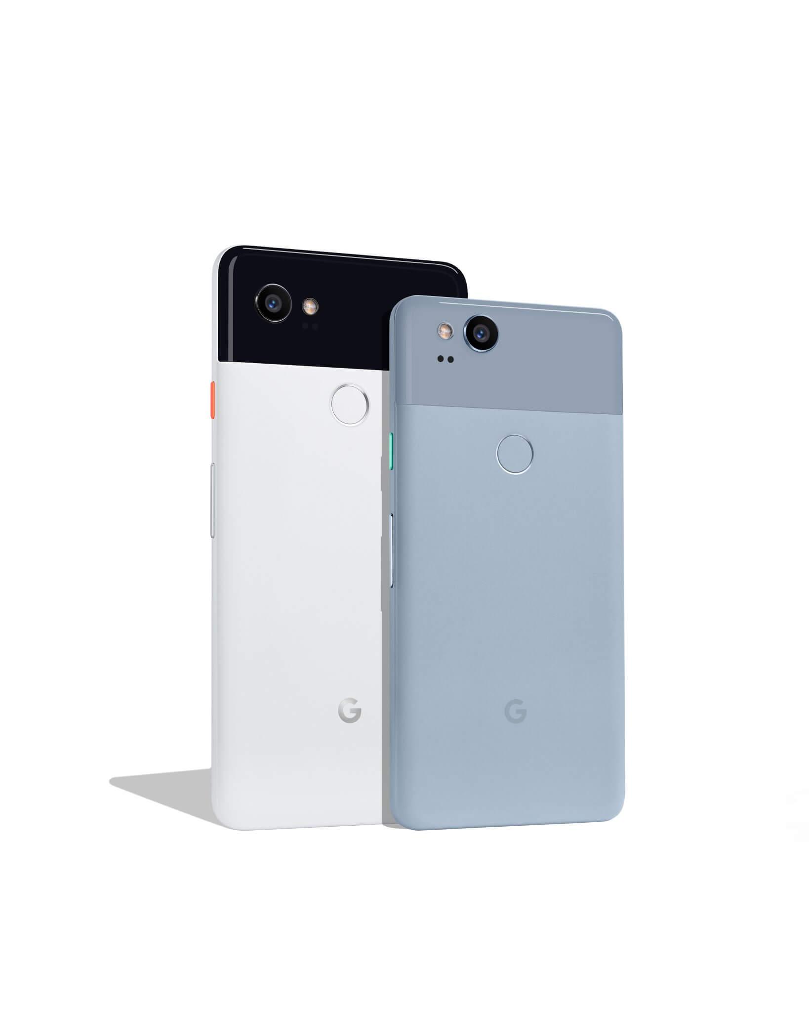 Pixel 2 XL Black  White and Pixel 2 Kinda Blue - Google anuncia Pixel 2 e Pixel 2 XL; confira os detalhes