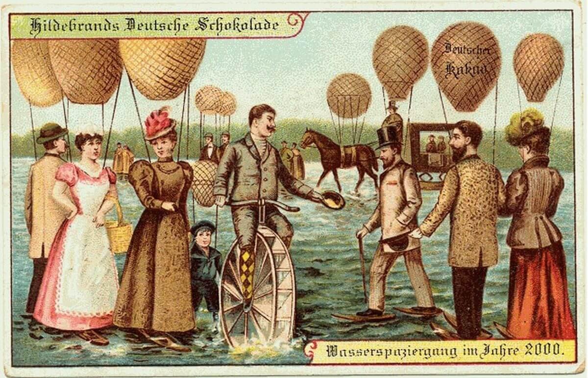 Caminhada sobre as augas com ajuda de baloes
