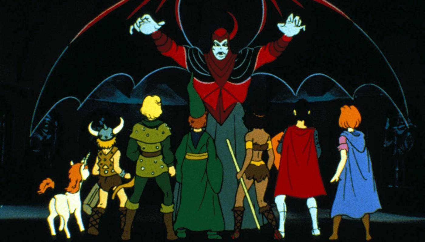 Na imagem, protagonistas em episódio final da caverna do dragão