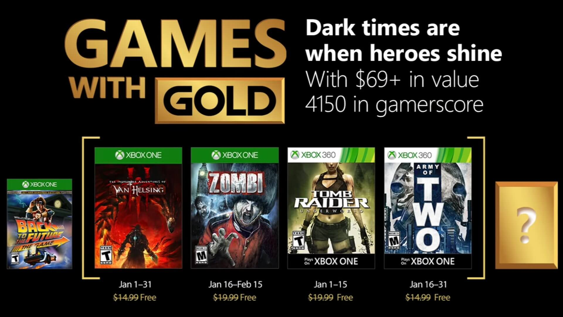 games with gold janeiro 2018