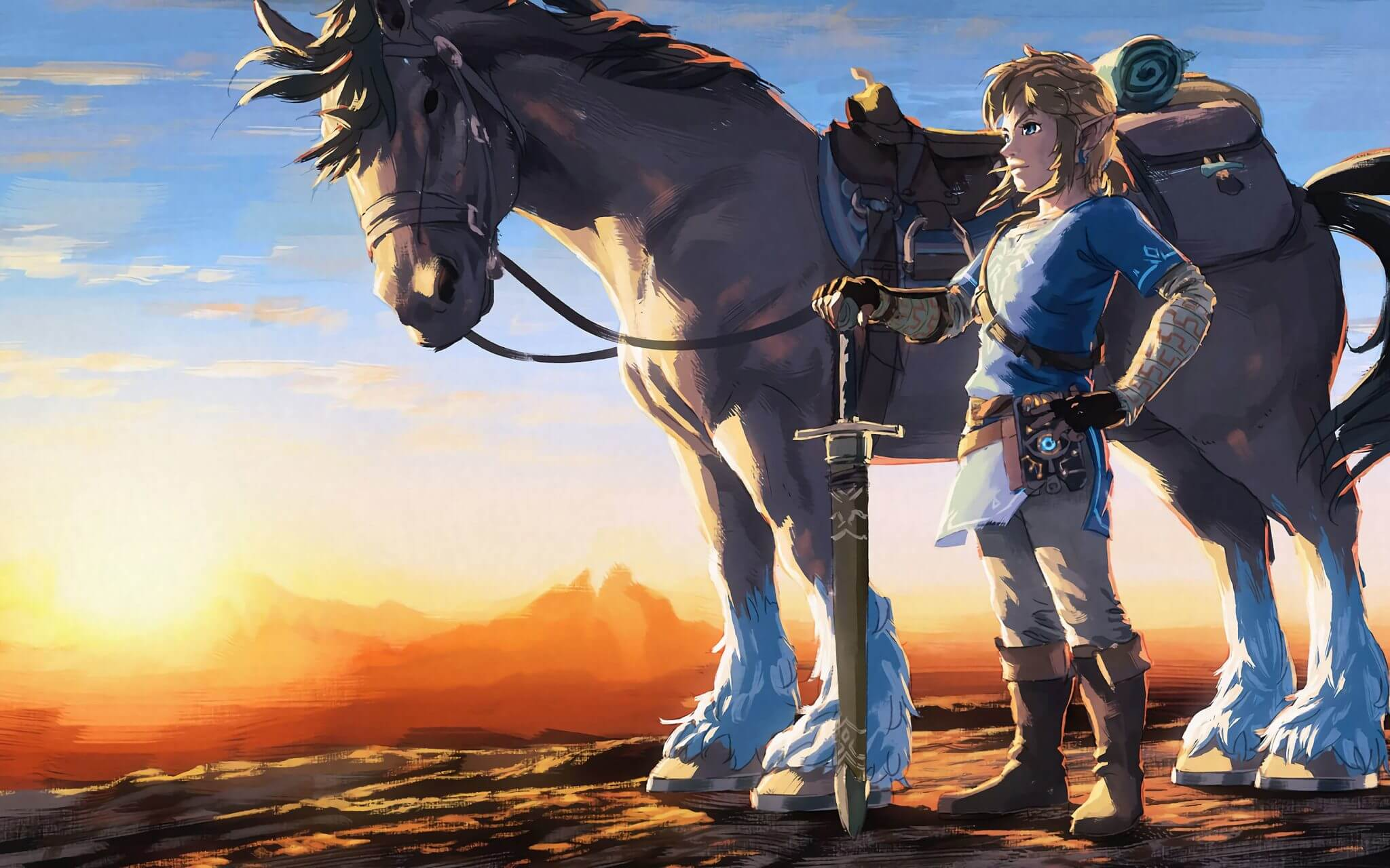 the legend of zelda artwork image 2880x1800