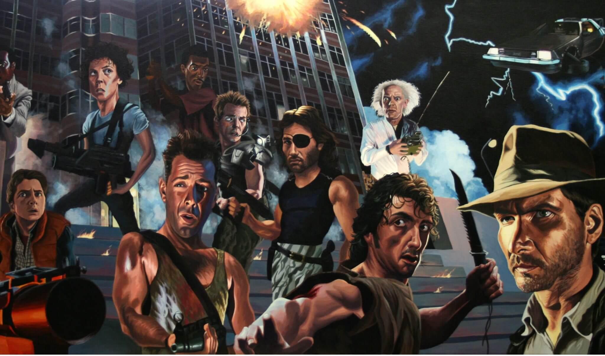 80 s Action Heroes - Qual é o grande segredo dos filmes dos anos 80?