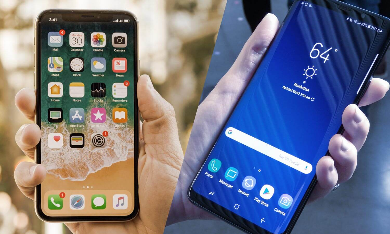 Comparativo: Samsung Galaxy S9+ vs Apple iPhone X
