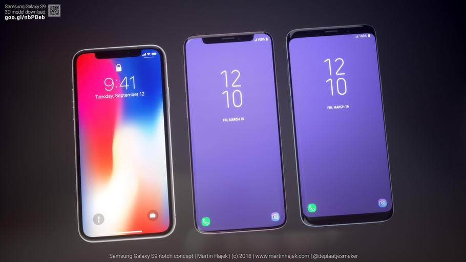 galaxy01 - Assim seria o Galaxy S9 se ele tivesse o notch do iPhone X