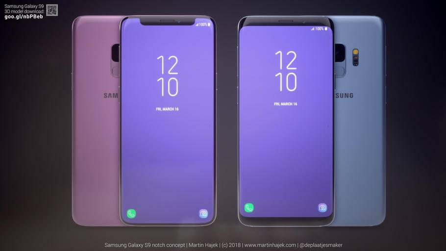 samsung 3 - Assim seria o Galaxy S9 se ele tivesse o notch do iPhone X