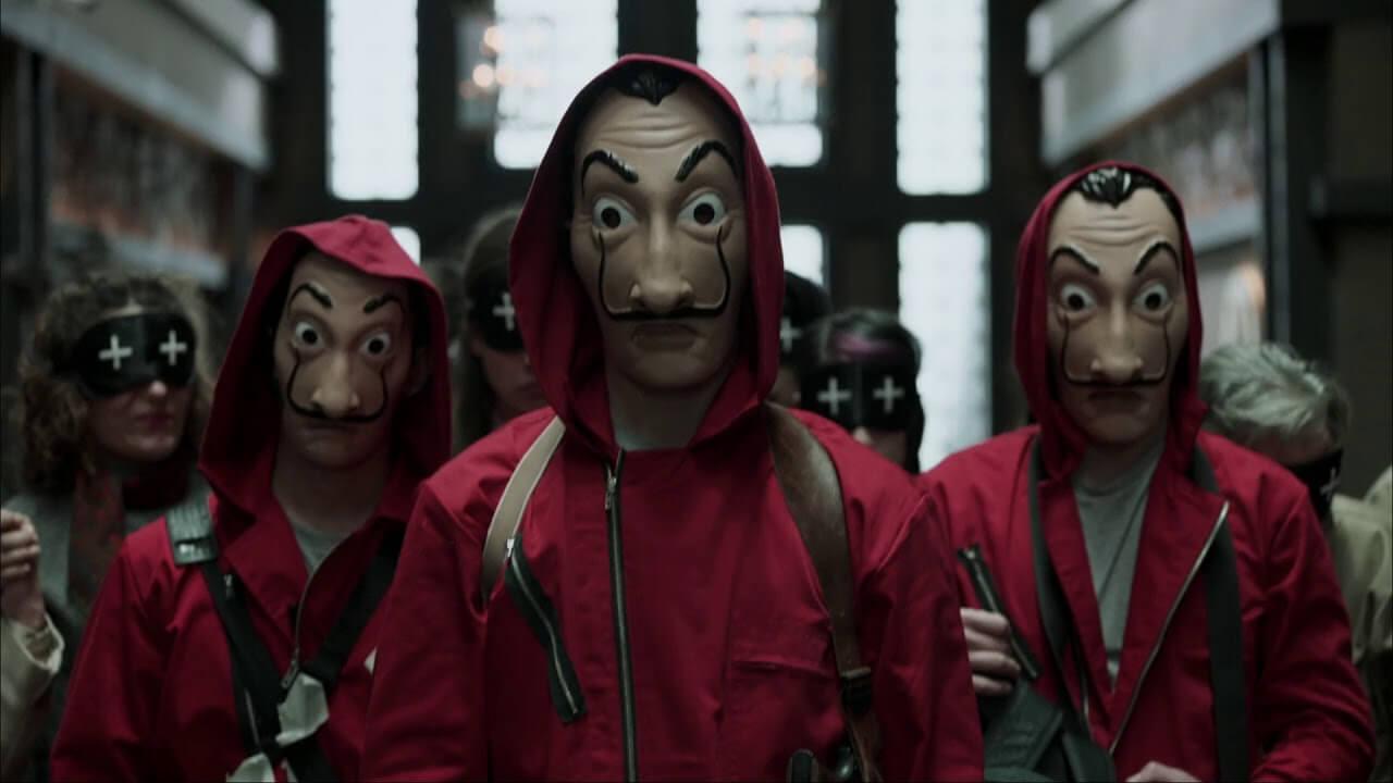 Cena de La Casa de Papel, série que agora é da Netflix.