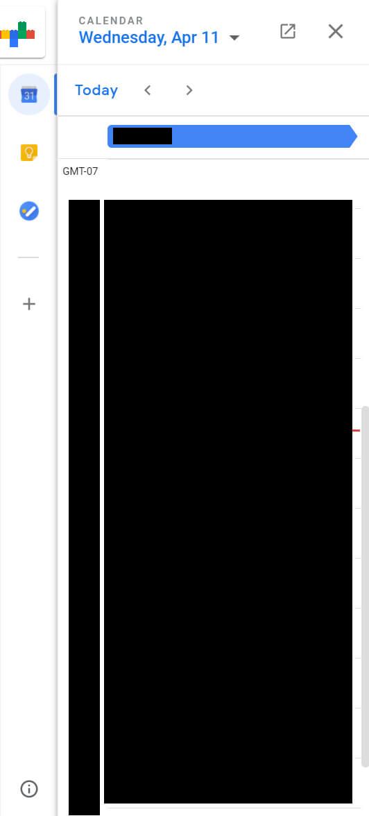 novo gmail calendário