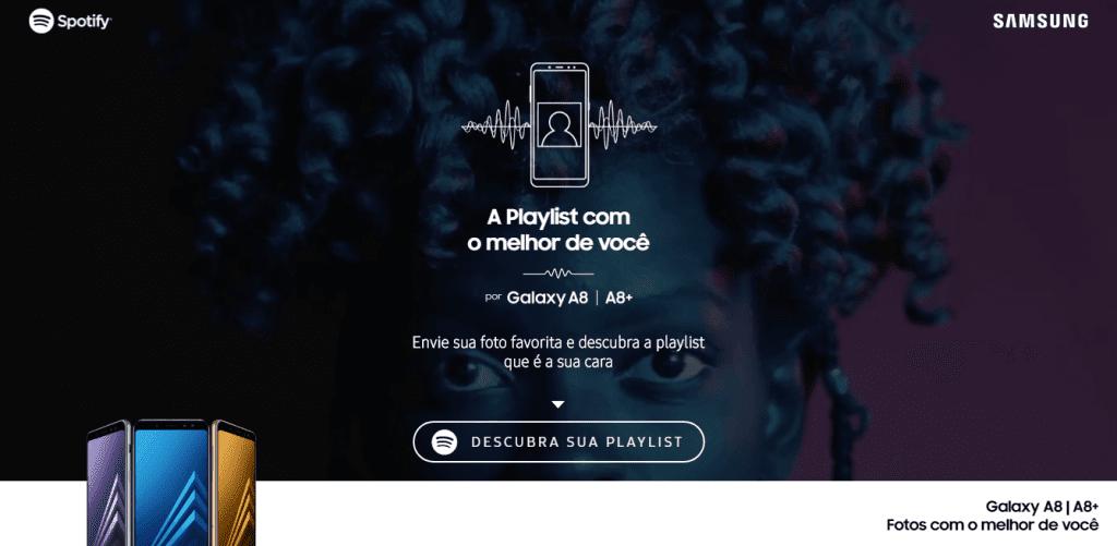 Samsung promove galaxy a8 e a8 com playlists personalizadas no spotify