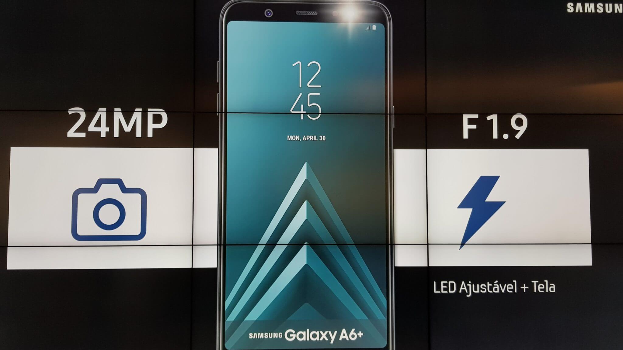 Galaxy A6+ chega ao Brasil com funções do S9+ e preço reduzido