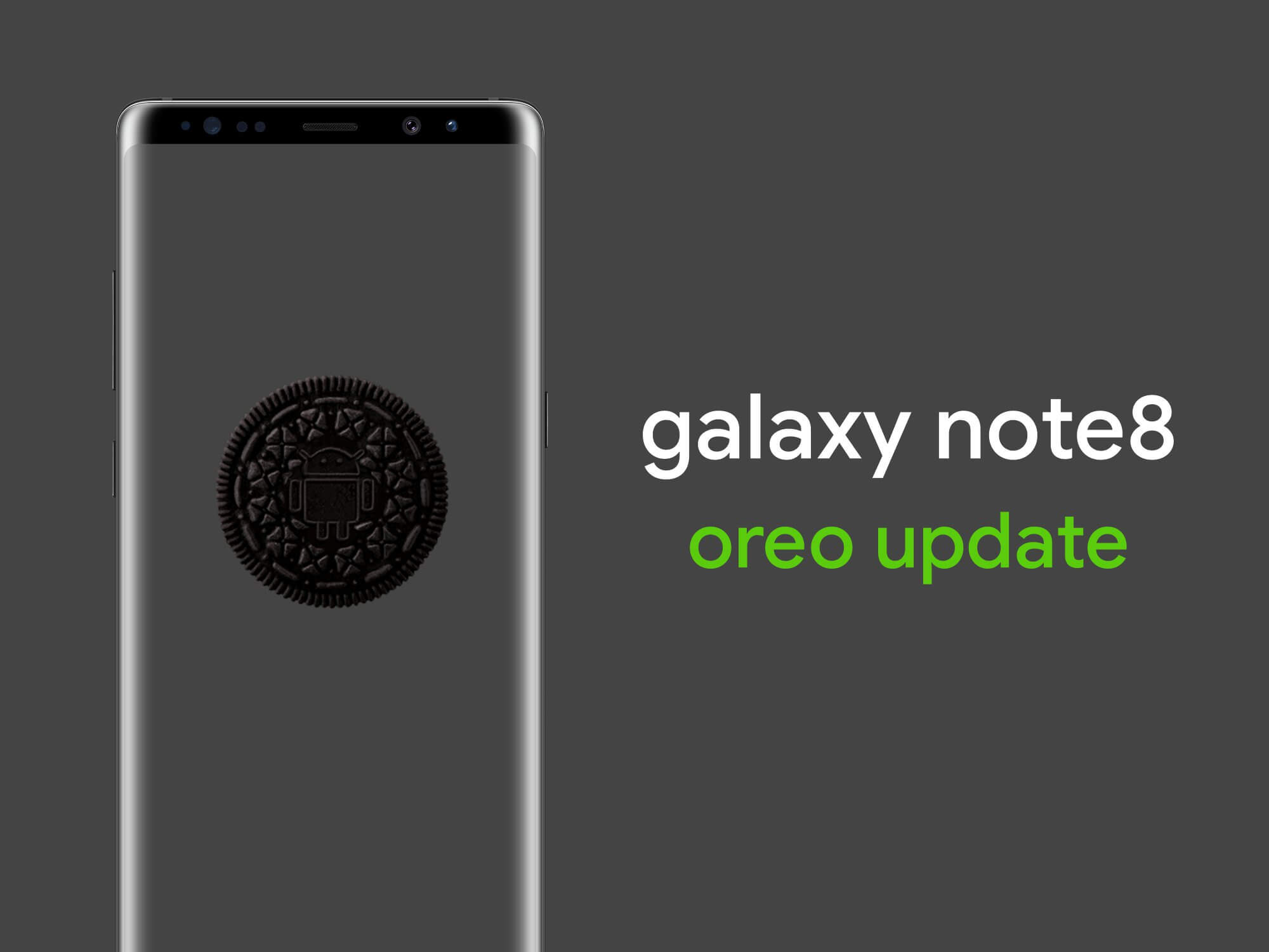 Galaxy note8 oreo update