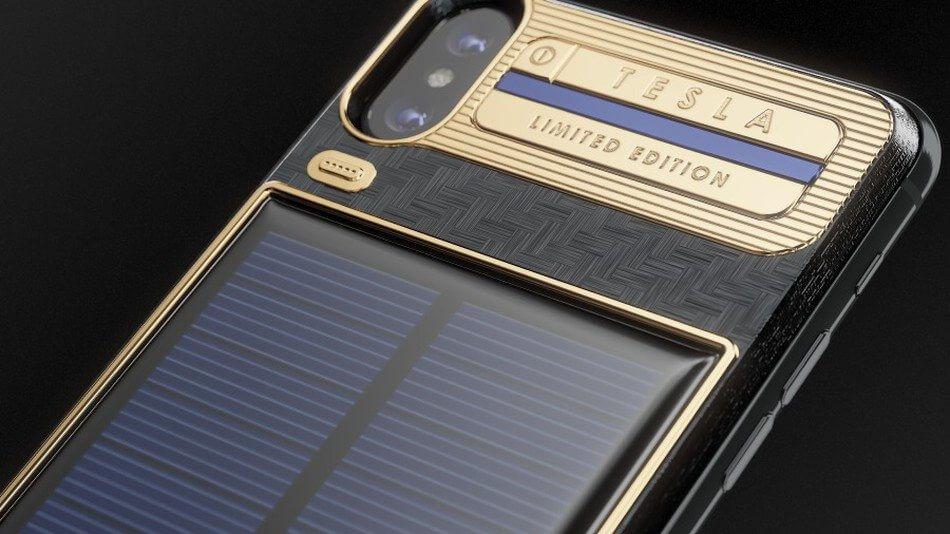 iPhoneX Tesla - Da Caviar, conheça o iPhone X Tesla, capa para iPhone com painel solar