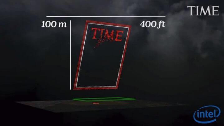 958 drones criaram a nova capa da revista TIME. Confira 4