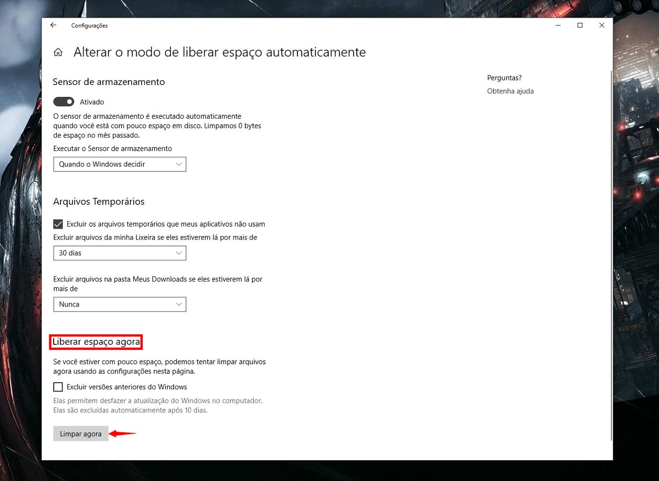 Como limpar seu disco com a nova ferramenta automática do windows 10. Mesmo com a popularização de hds de grande capacidade, usar a nova ferramenta de liberar espaço do windows 10 pode salvar a sua pele.
