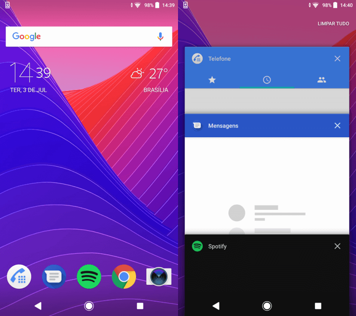 Interface - Sony Xperia XA2 Ultra