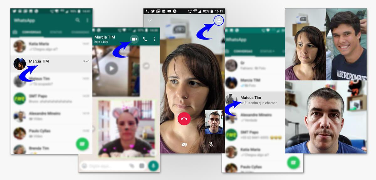 Chamadas de video e audio em grupo pelo whatsapp