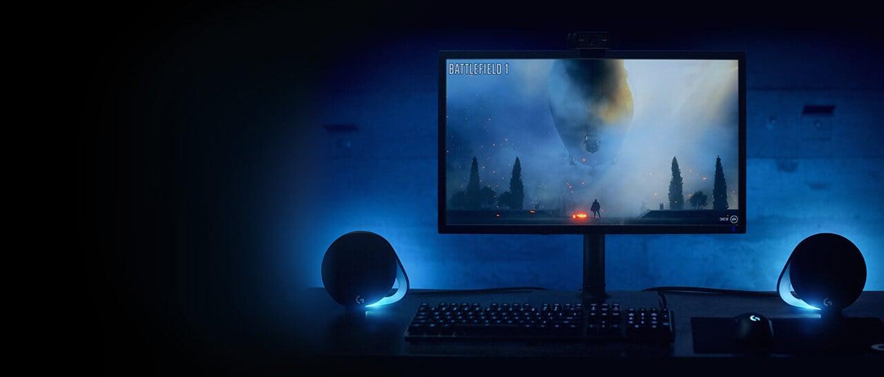 G560 lightsync pc gaming speakers 1