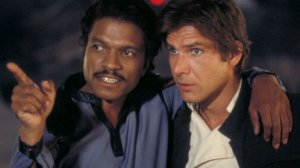 lando calrissian and harrison ford han solo in star wars the empire strikes back 300x168 - Star Wars IX: Lando Calrissian original retornará para a trilogia