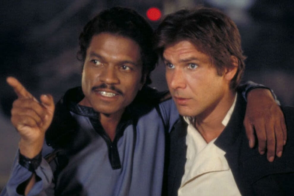 lando calrissian and harrison ford han solo in star wars the empire strikes back 990x660 - Star Wars IX: Lando Calrissian original retornará para a trilogia
