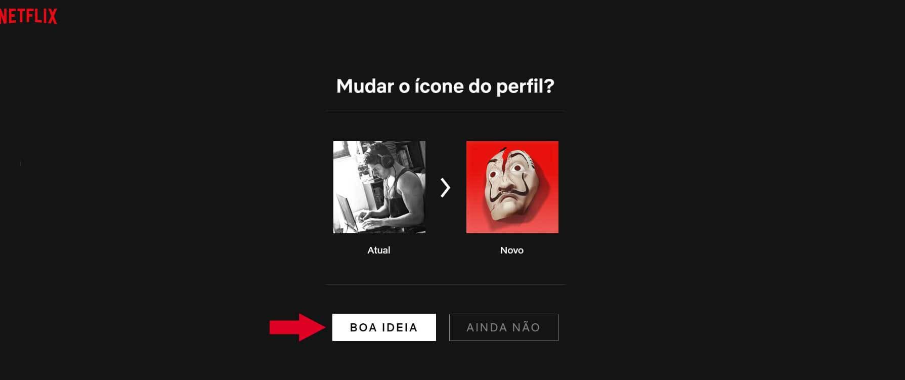 Netflix finalmente libera novas imagens para perfis. A netflix incluiu novas opções de ícones para utilizar nos perfis; dentre as opções estão disponíveis rostos dos personagens de séries e filmes famosos na plataforma.