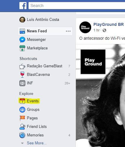 Eventos do facebook