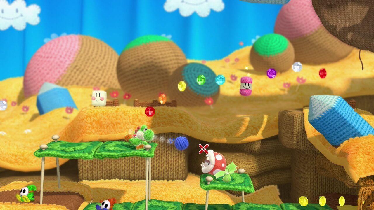 O mundo felpudo do Yoshi de lã cairia muito bem na telinha do Nintendo Switch, não é mesmo?