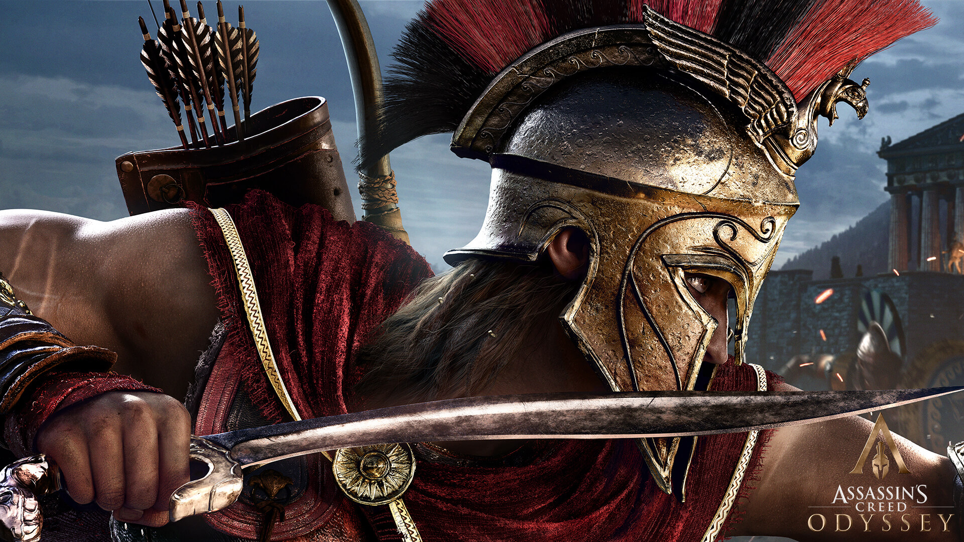 ACOdyssey PC Wallpaper Spartan 1920x1080 - [Gamescom 2018] Ubisoft lança novo trailer de Assassin's Creed Odyssey