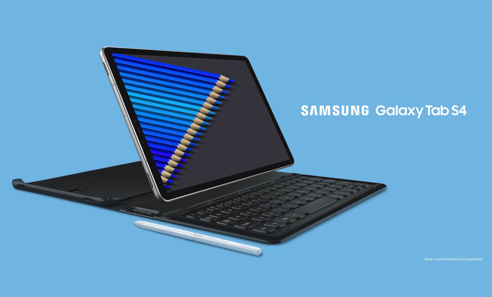 Galaxy tab s4 com keyboard cover