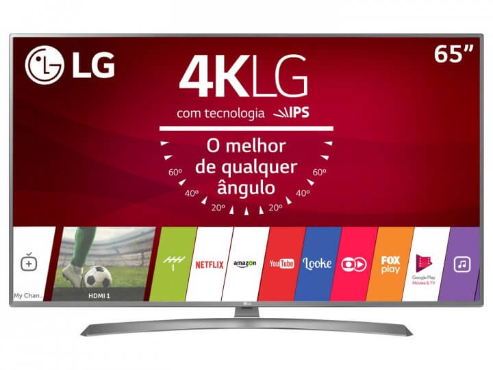 "Smart TV LED 65"" LG 4K/Ultra HD 65UJ6585 WebOS"
