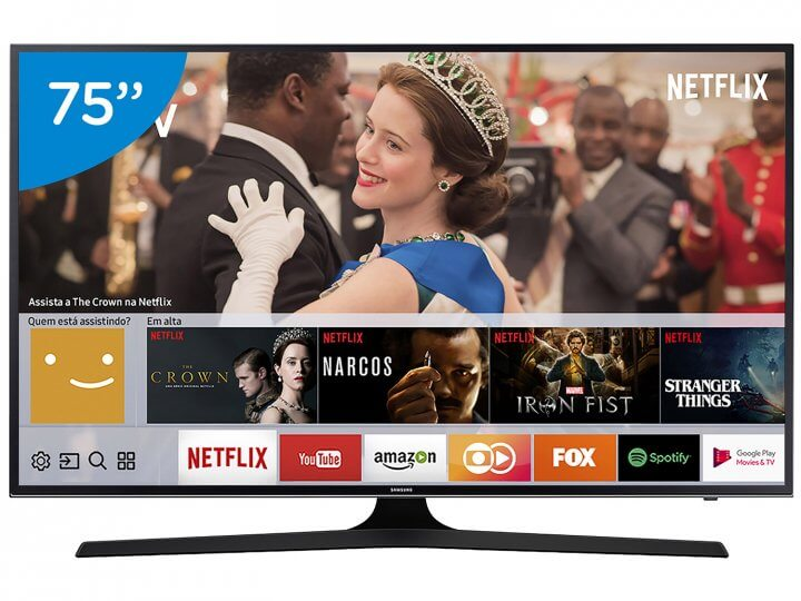 "Smart TV LED 75"" Samsung 4K/Ultra HD 75MU6100."