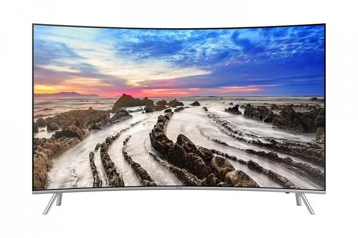 Smart TV LED Curva 55 UHD 4K Samsung 55MU7500 720x480 - Saiba escolher a TV 4K ideal para o tamanho do seu ambiente