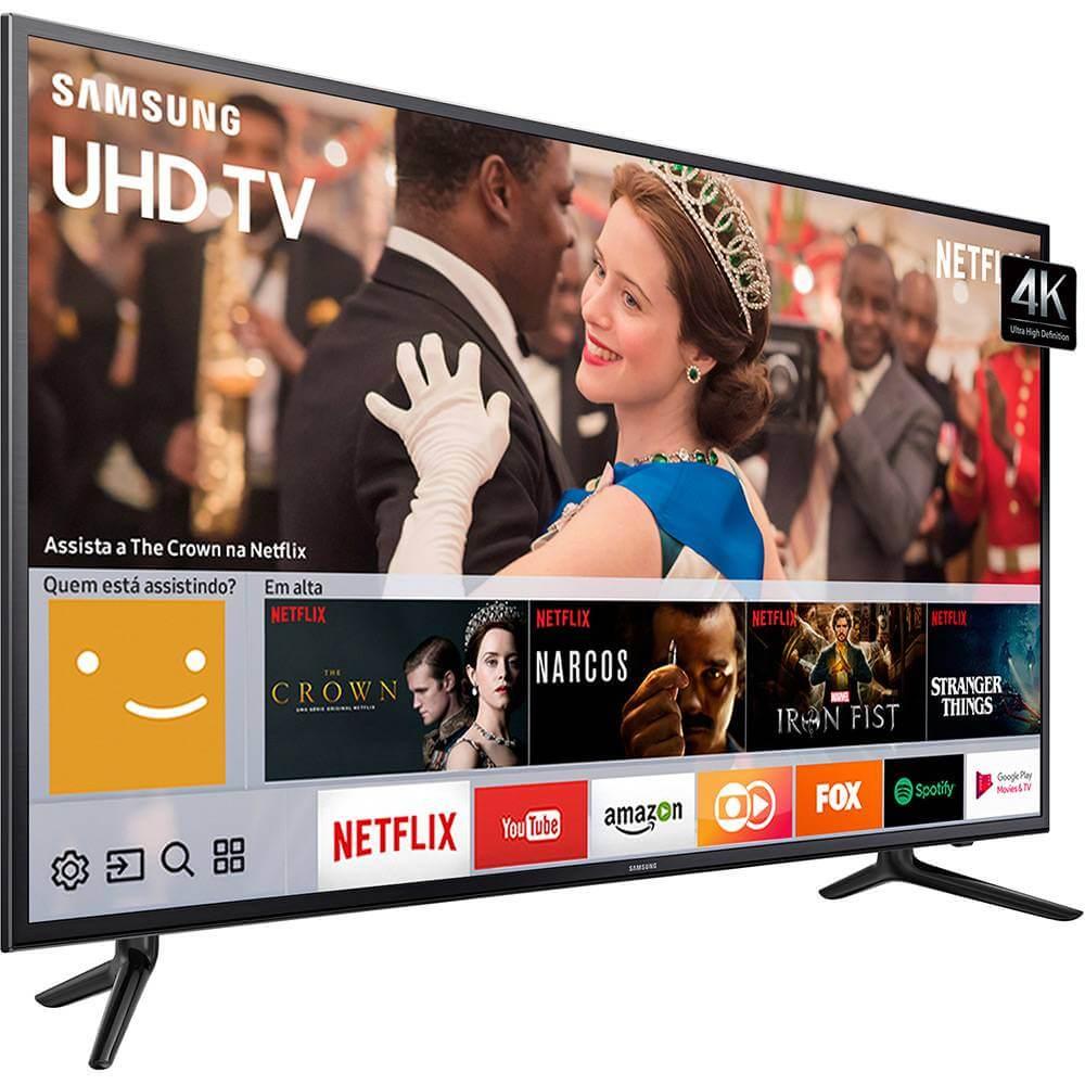 """Resultado de imagem para Smart TV LED 58"""" MU6120 Samsung Série 6 4K HDR Netflix"""