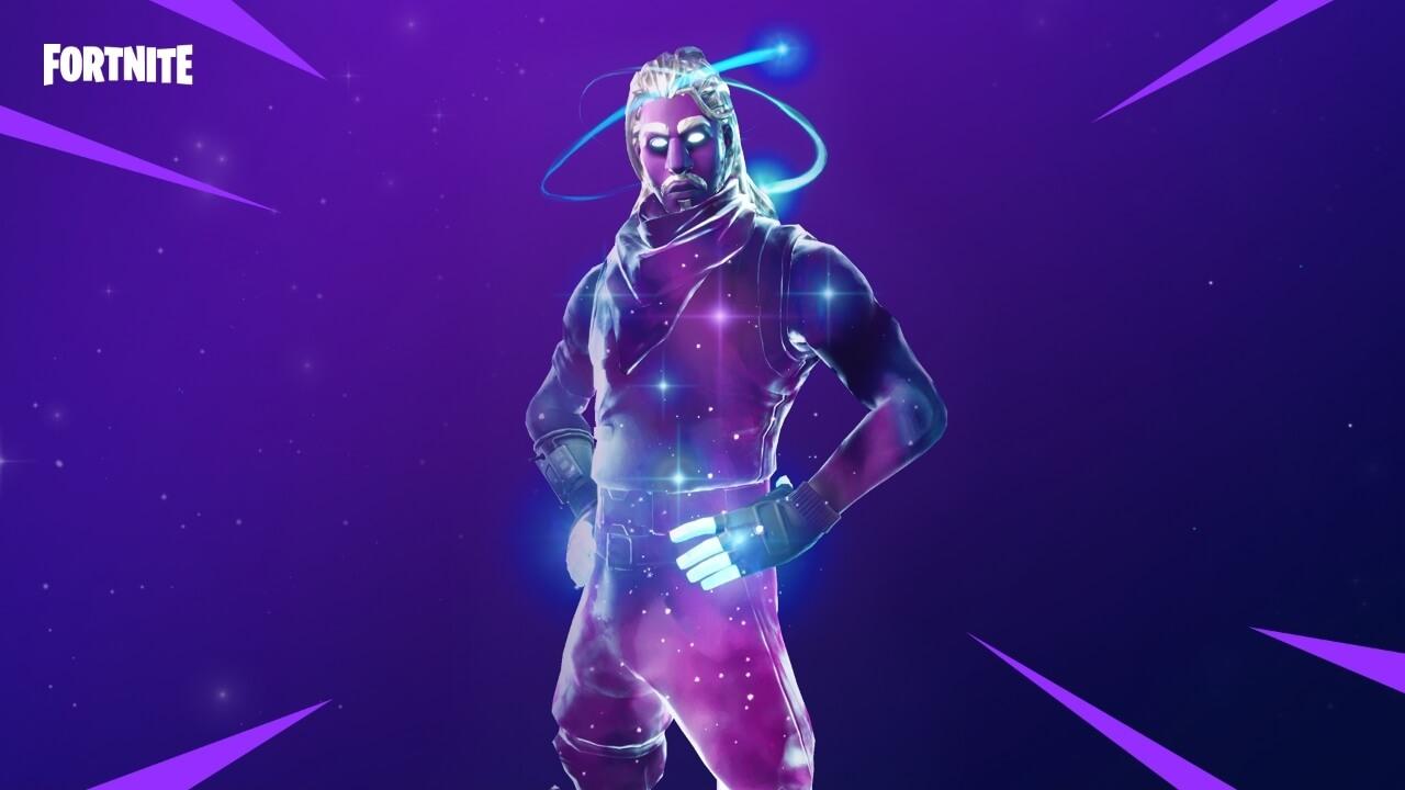 """Galaxy é a skin ou """"pele"""" exclusiva para jogadores de fortnite no note 9"""