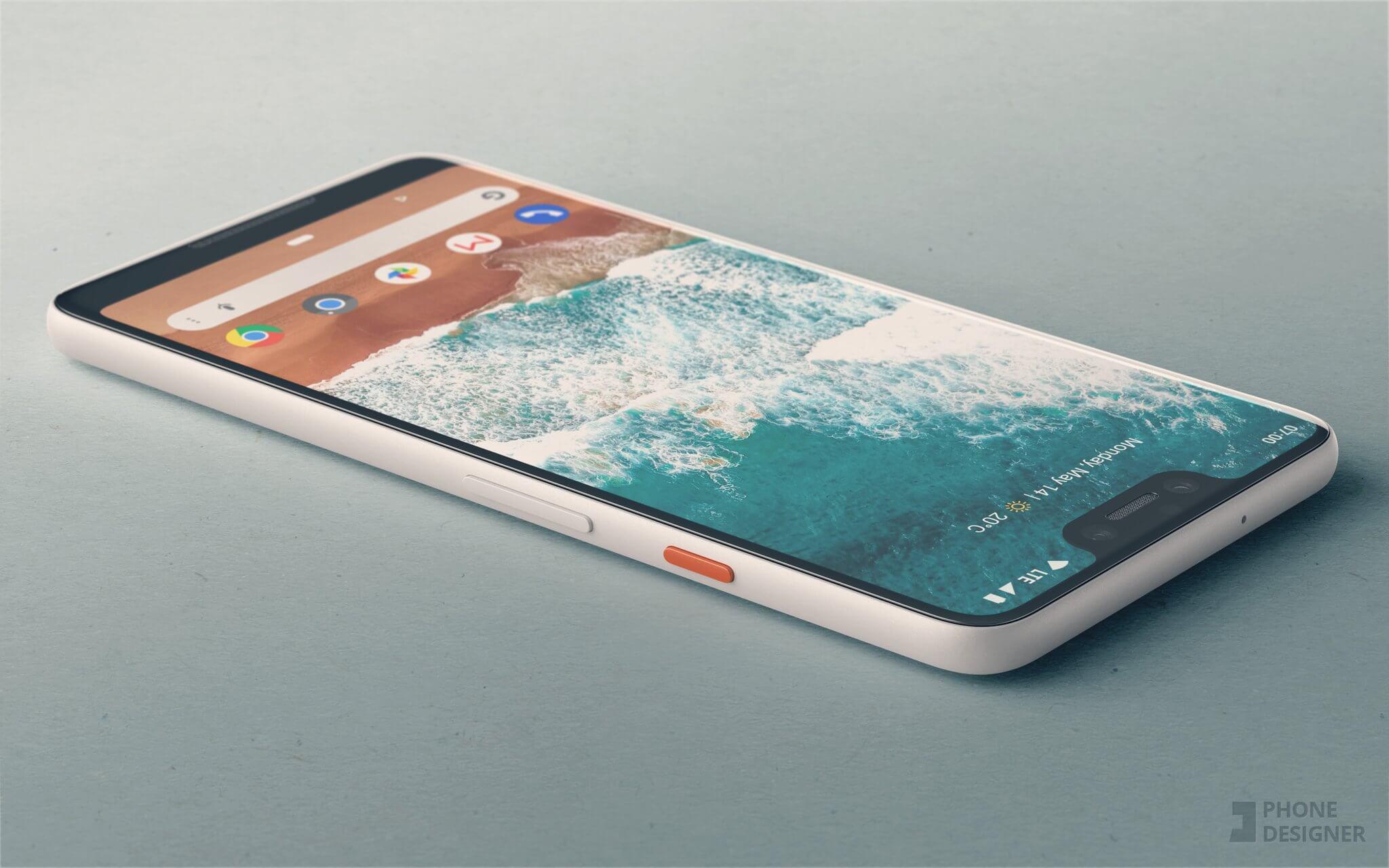 Google pixel 3 xl render phone designer 1