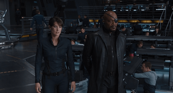 Nick Fury e Maria Hill