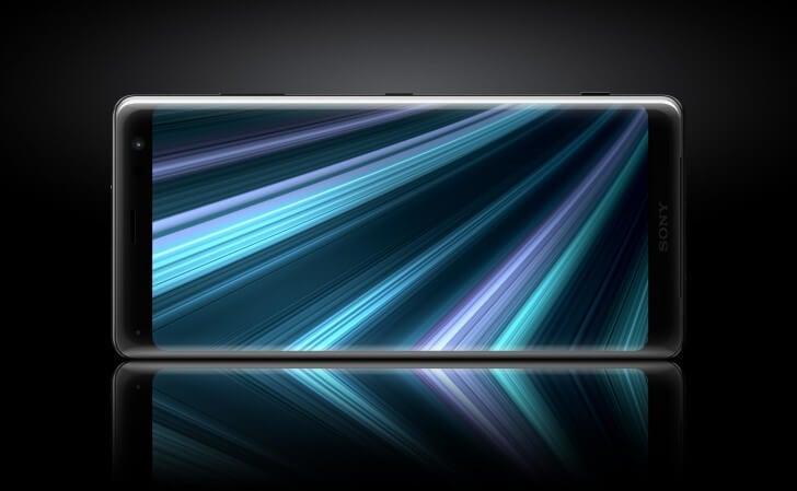 Imagem do xperia xz3, apresentado durante a ifa 2018.