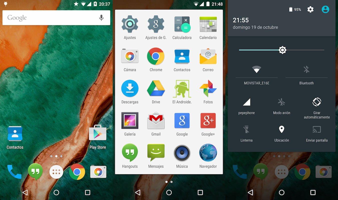 A evolução do android na tela inicial e navegação