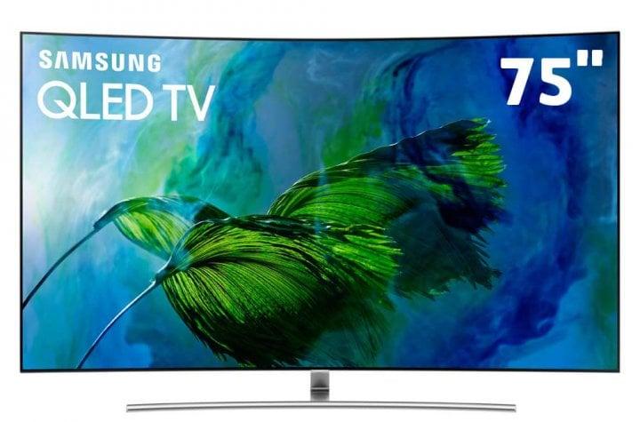 smart tv qled 75 uhd 4k curva samsung q8c qpicture com pontos quanticos hdr1500 qstyle design 360 one connect qsmart hdmi e usb 11632104 e1535122176421 720x475 - Saiba escolher a TV 4K ideal para o tamanho do seu ambiente
