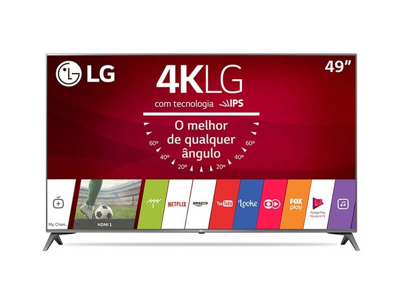 "Smart TV LED 49"" LG 4K/Ultra HD 49UJ6565"