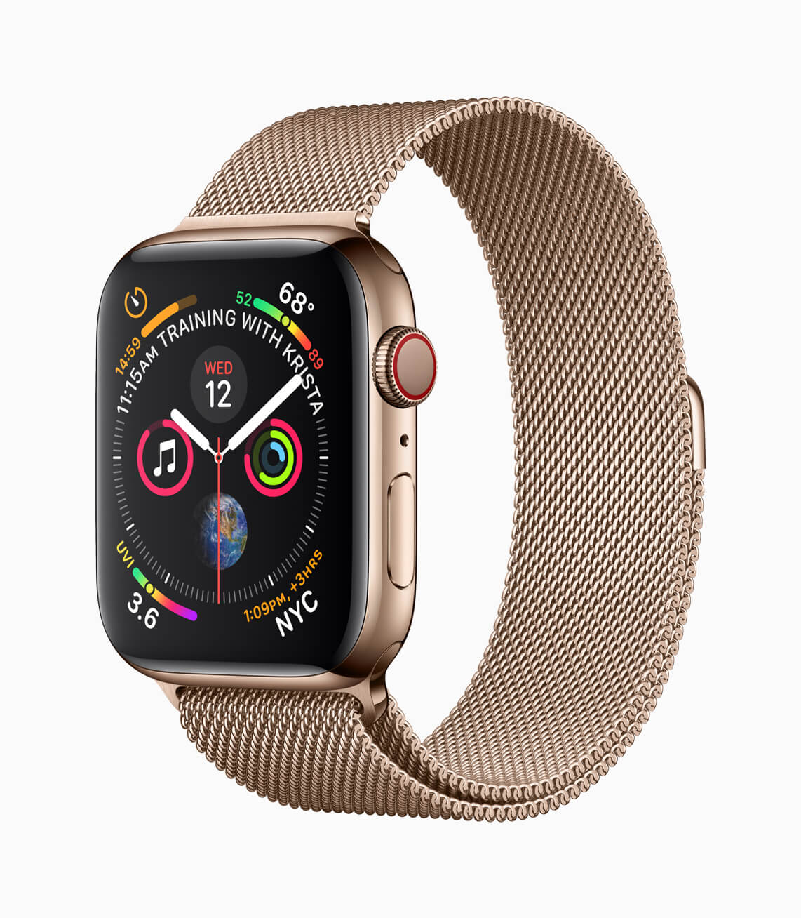 Apple Watch Series4 Gold Milanese 09122018 - Apple Watch Series 4 é lançado com eletrocardiograma