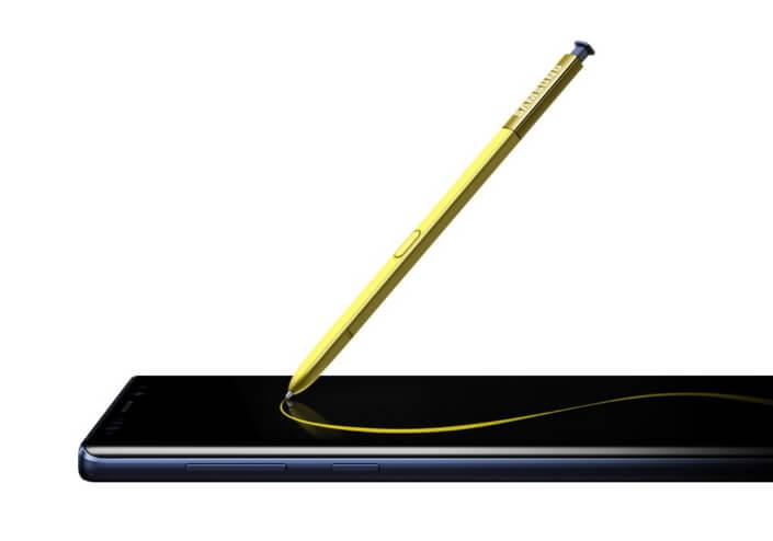 O note9 tem a caneta s-pen, exclusiva da linha